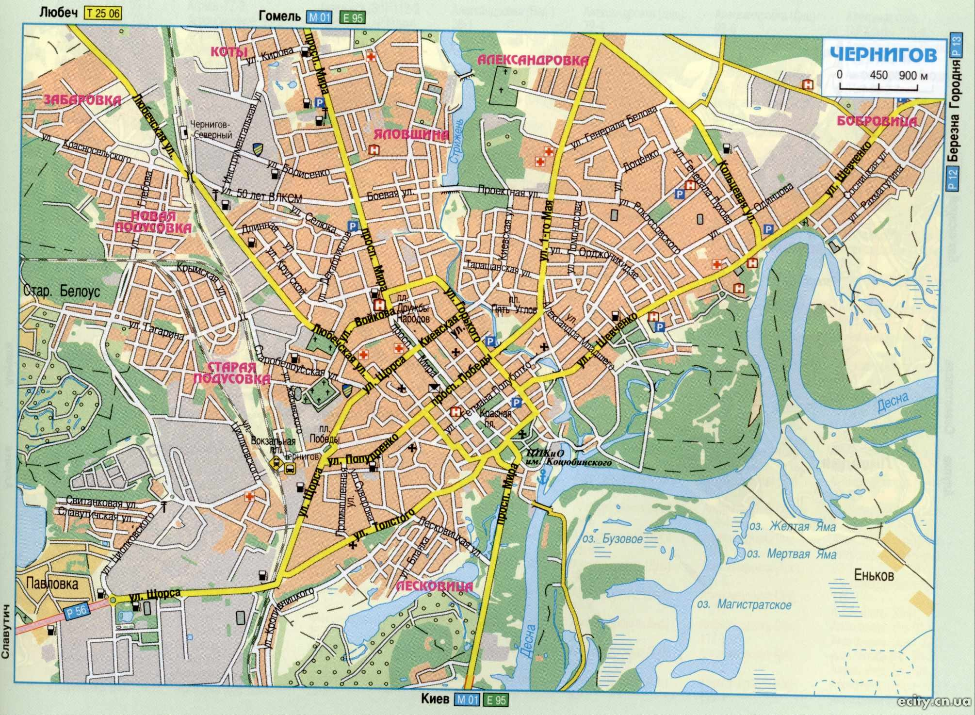 КАРТЫ ЧЕРНИГОВА И ЧЕРНИГОВСКОЙ ОБЛАСТИ: http://ecity.cn.ua/maps/22-raznye-karty-goroda-chernigova.html