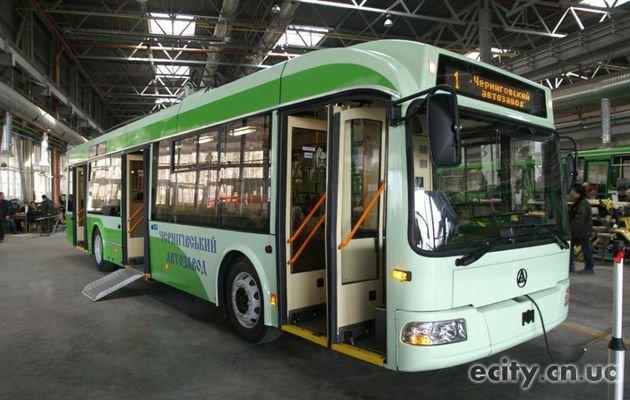 Началось производство черниговских троллейбусов Белкомунмаш