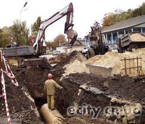 В Чернигове достраивают нить главного канализационного коллектора
